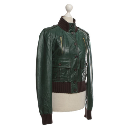 Gucci Leather jacket in green