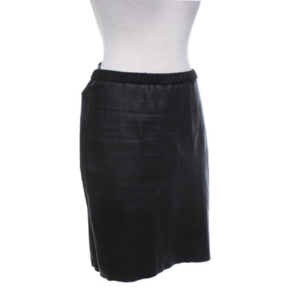 Isabel Marant Leather skirt in black