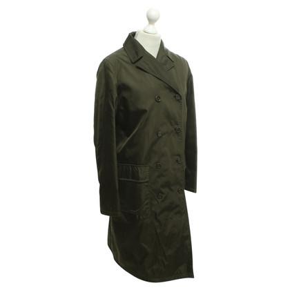 Prada Coat in dark green