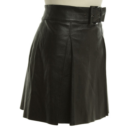 Jitrois Leather skirt in black