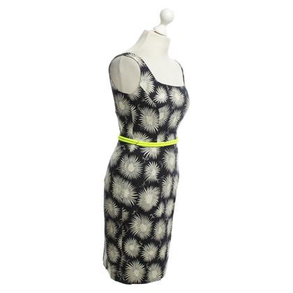 Milly Schede jurk in blauw met patroon