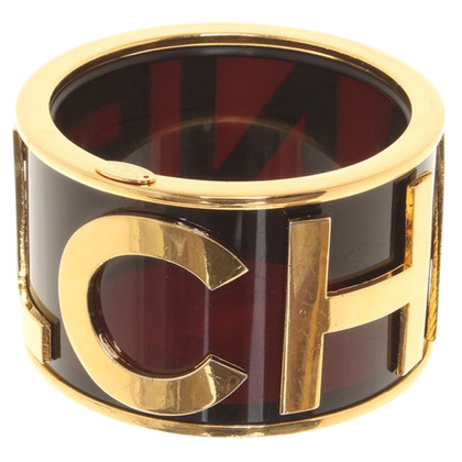 Chanel Bangle with gold logo