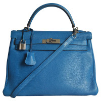 Hermès Kelly Bag 32 in Blue Izmir