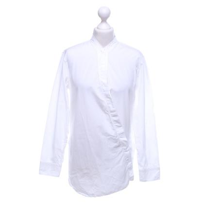 Helmut Lang Long blouse in white