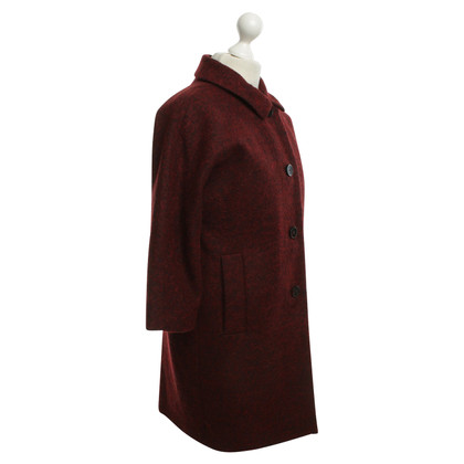 Cos Felt jacket in Bordeaux