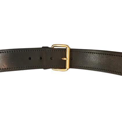 Miu Miu Cintura in pelle con fibbia dorata