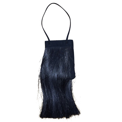 Helmut Lang Pochette with horse hair trim