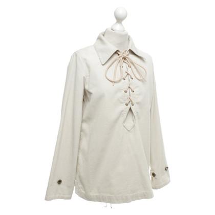Chloé Camicetta di velluto a coste in beige
