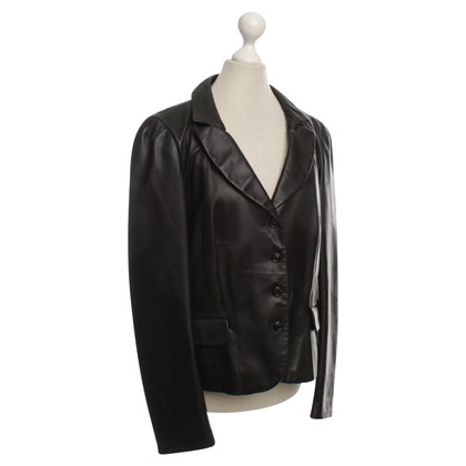 Moschino Leather jacket in black