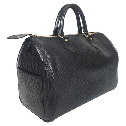 """Louis Vuitton """"Speedy 30 Epi leder"""" in zwart"""