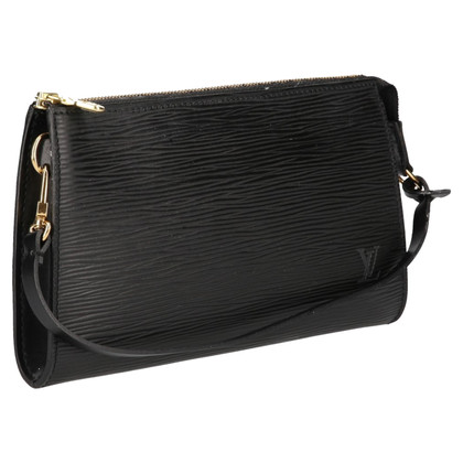 Louis Vuitton Pochette Accessories Epi Leather Black