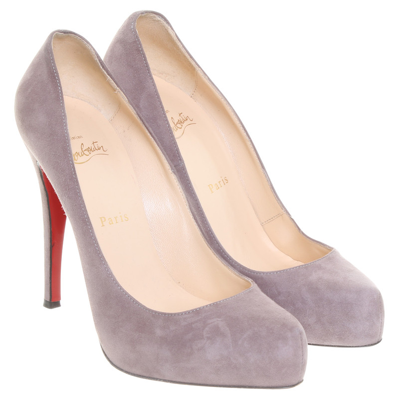 Christian Louboutin Suede pumps gray