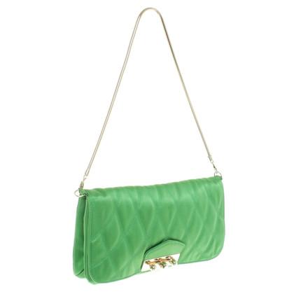 Bally clutch in verde chiaro
