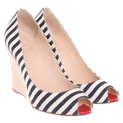 Christian Louboutin Peep Toe Wedges