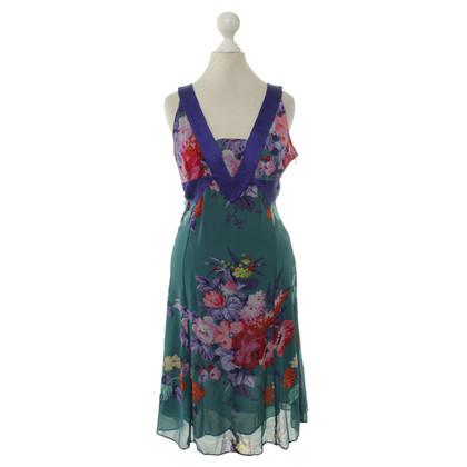 Etro zijden jurk met een bloemmotief