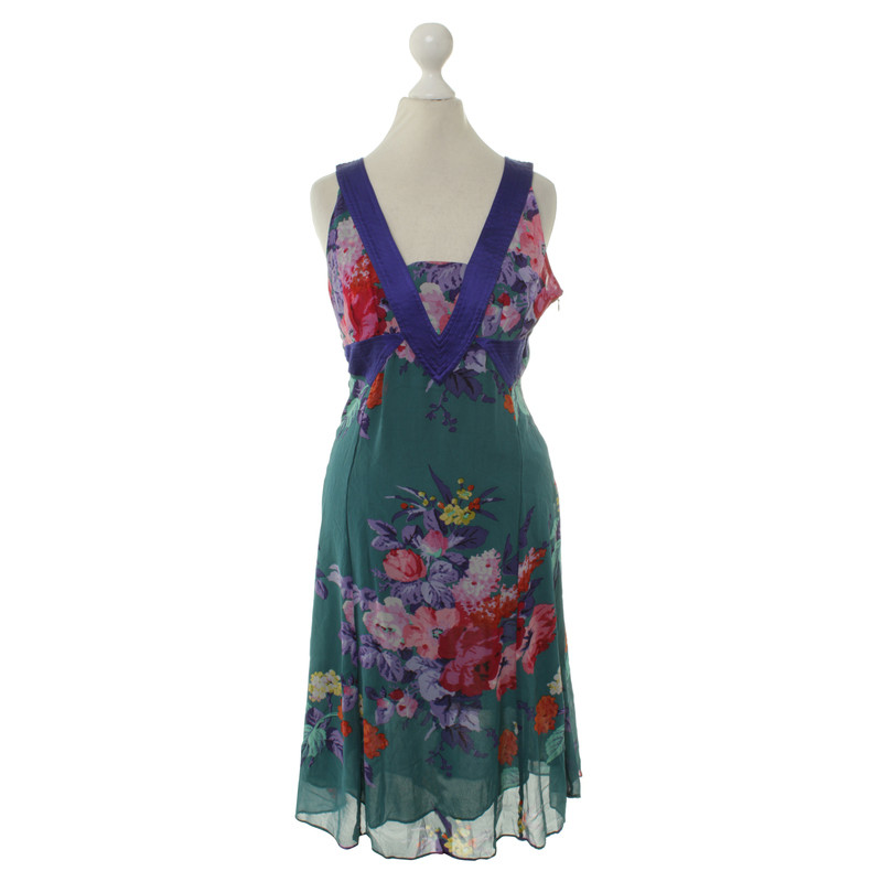 Etro Seidenkleid mit floralem Muster
