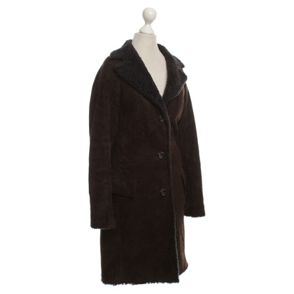 Jil Sander Sheepskin coat in Brown