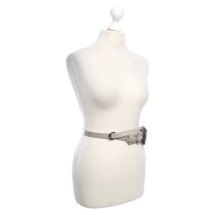 Twin-Set Simona Barbieri Leather belt in grey