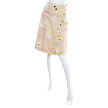 Max Mara Wrap skirt with floral pattern
