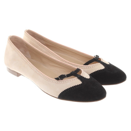 Unützer Ballerinas in beige / black