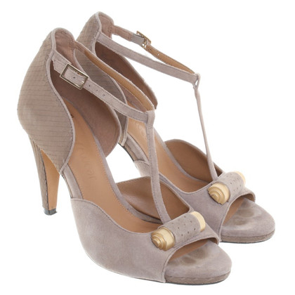 Clarks Peeptoes in Taupe