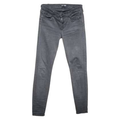 7 For All Mankind Skinny jeans en gris