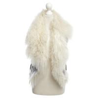 Ferre Lamb jacket vest in olive / beige