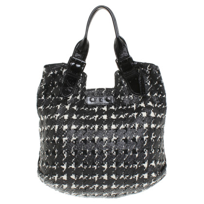 Alexander McQueen Shopper with houndstooth pattern