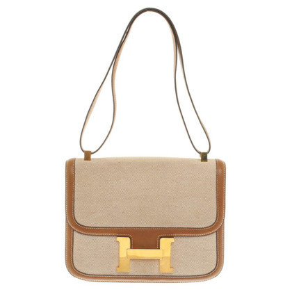 """Hermès """"Constance Bag MM"""" made of canvas / leather"""