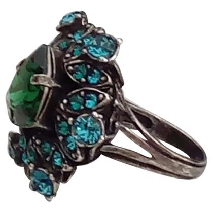 Lanvin Anello con pietre semi-preziose colorate