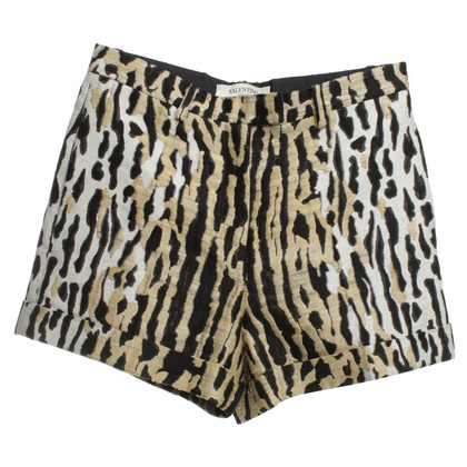 Valentino Shorts with animal pattern
