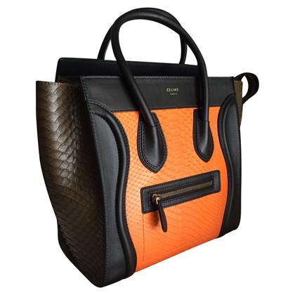 """Céline """"Micro Luggage Handbag"""" aus Pythonleder"""