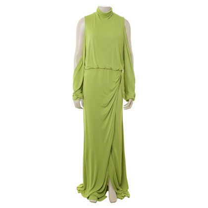 Gianni Versace Light green cold shoulder dress