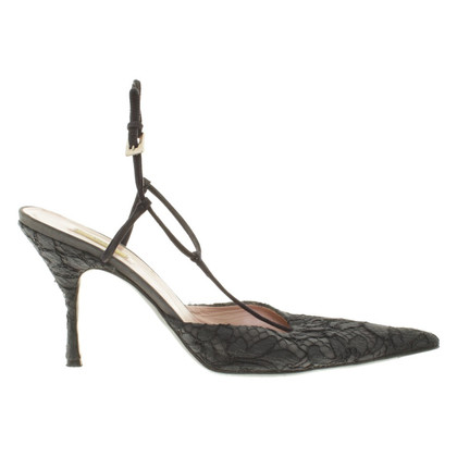 Prada Sandals with lace trim