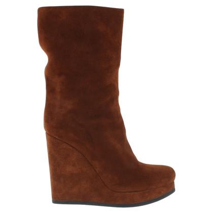 Jil Sander Suede boots in brown