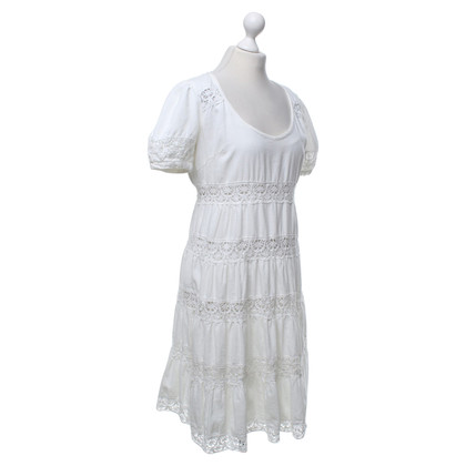 Noa Noa Tiered dress with crochet lace