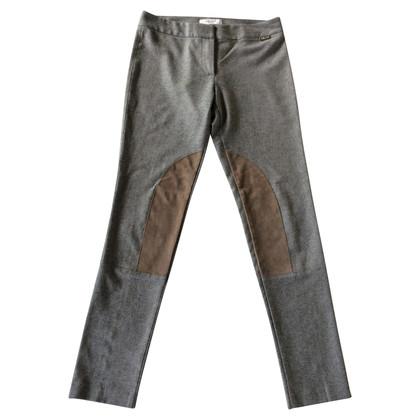Blumarine Wollen broek met suede