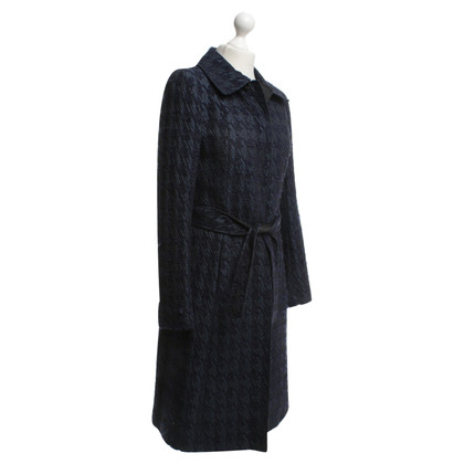 Dolce & Gabbana Dark blue coat with faucet pattern