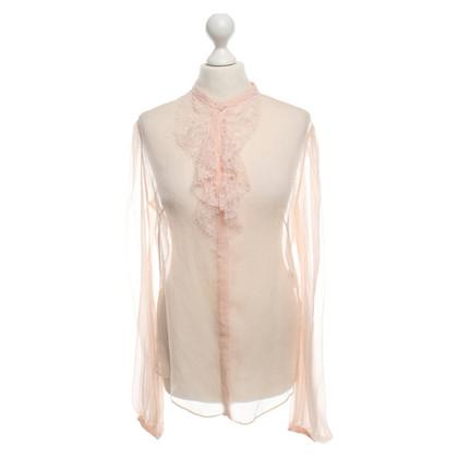 Alexander McQueen Zijden blouse in nude