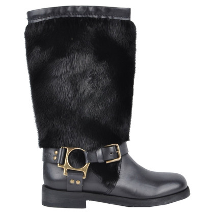 Dolce & Gabbana Boots with mink fur trim
