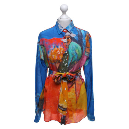 Stella Jean Silk blouse with pattern