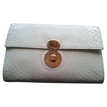 Ralph Lauren White Phytonleder clutch