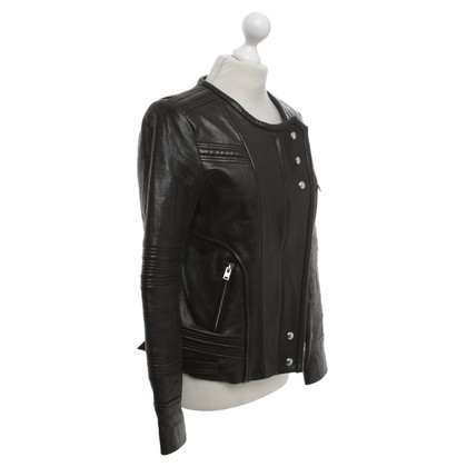 Iro Leather jacket in black