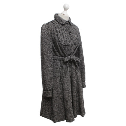 Anna Sui Coat met zout en peper patroon