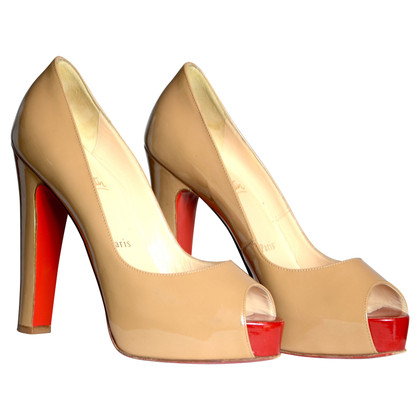 Christian Louboutin Peeptoes patent leather
