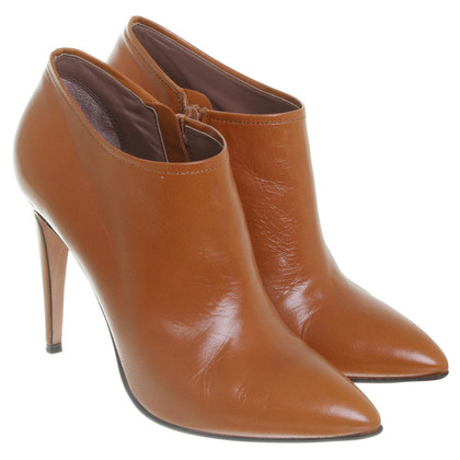 L'autre Chose Ankle Stilettos in Cognac Brown