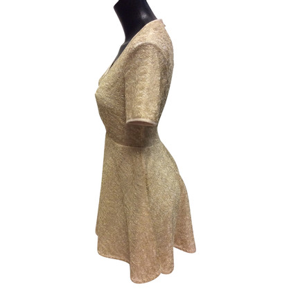 Patrizia Pepe Goudkleurige jurk