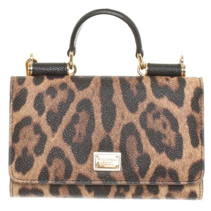 Dolce & Gabbana Handy-Case mit Animal-Print