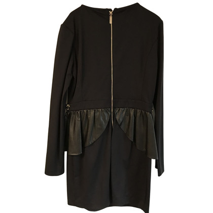 Elisabetta Franchi Dress with artificial leather peplum