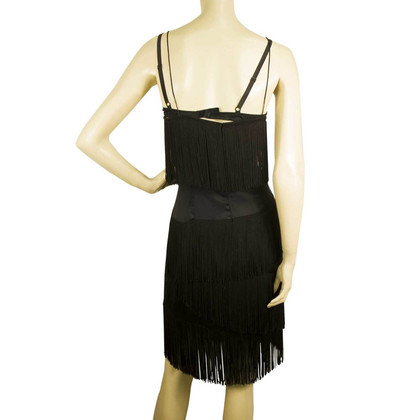 Dolce & Gabbana Zwarte jurk met franje